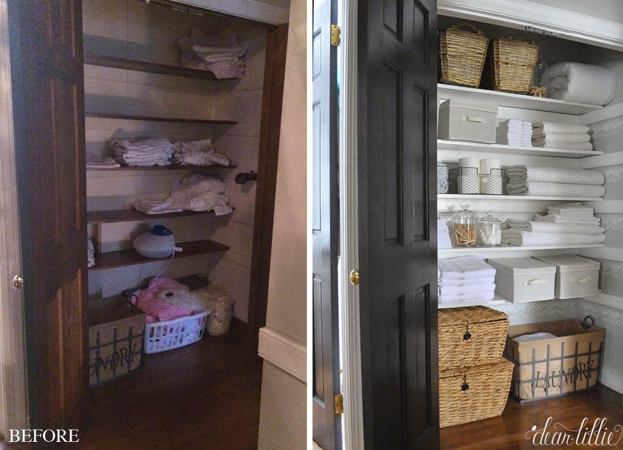 Our Linen Closet Makeover Dear Lillie Studio