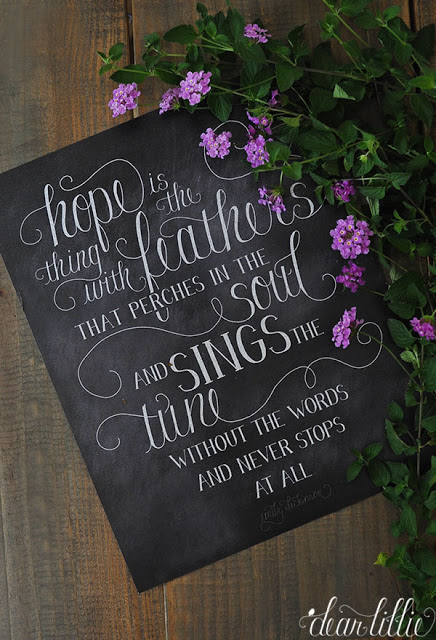 Hope Is The Thing With Feathersnew Emily Dickinson Print Dear