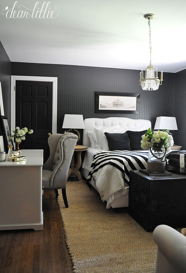 Jenni S Previous Home Guest Room With Dark Beadboard