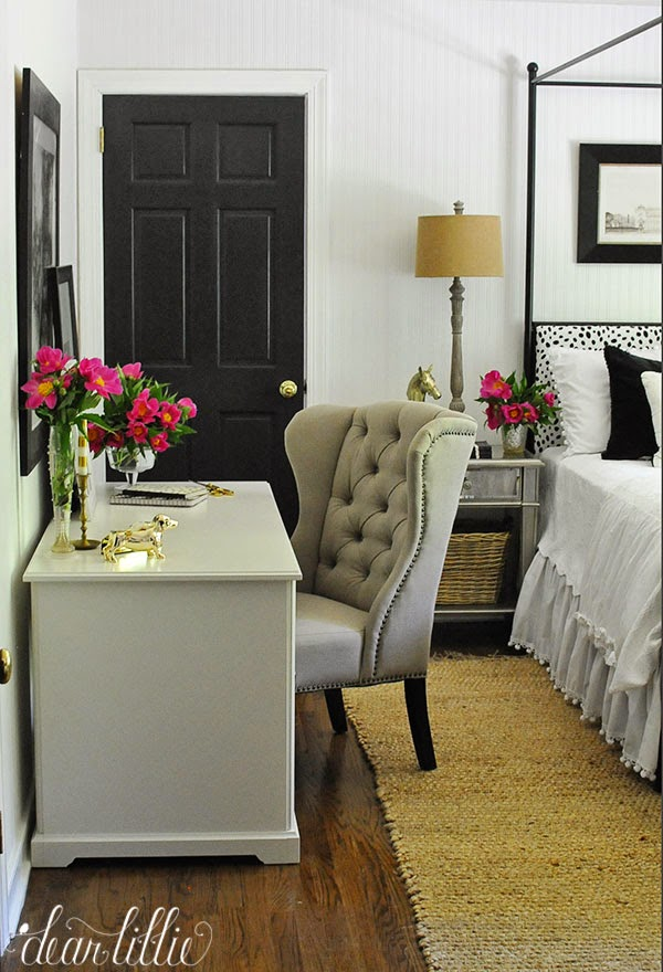 Jenni S Previous Home Guest Room With White Beadboard