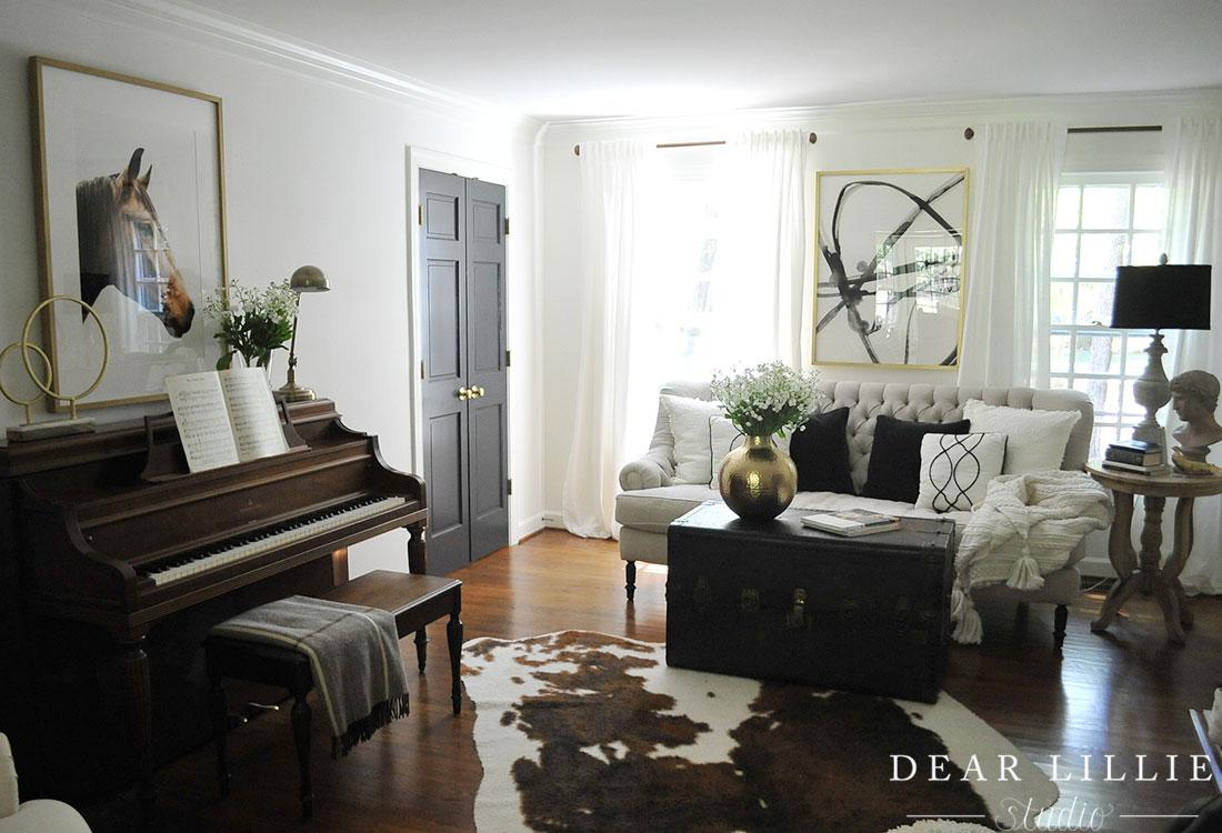 switching up our living room dear lillie studio. Black Bedroom Furniture Sets. Home Design Ideas