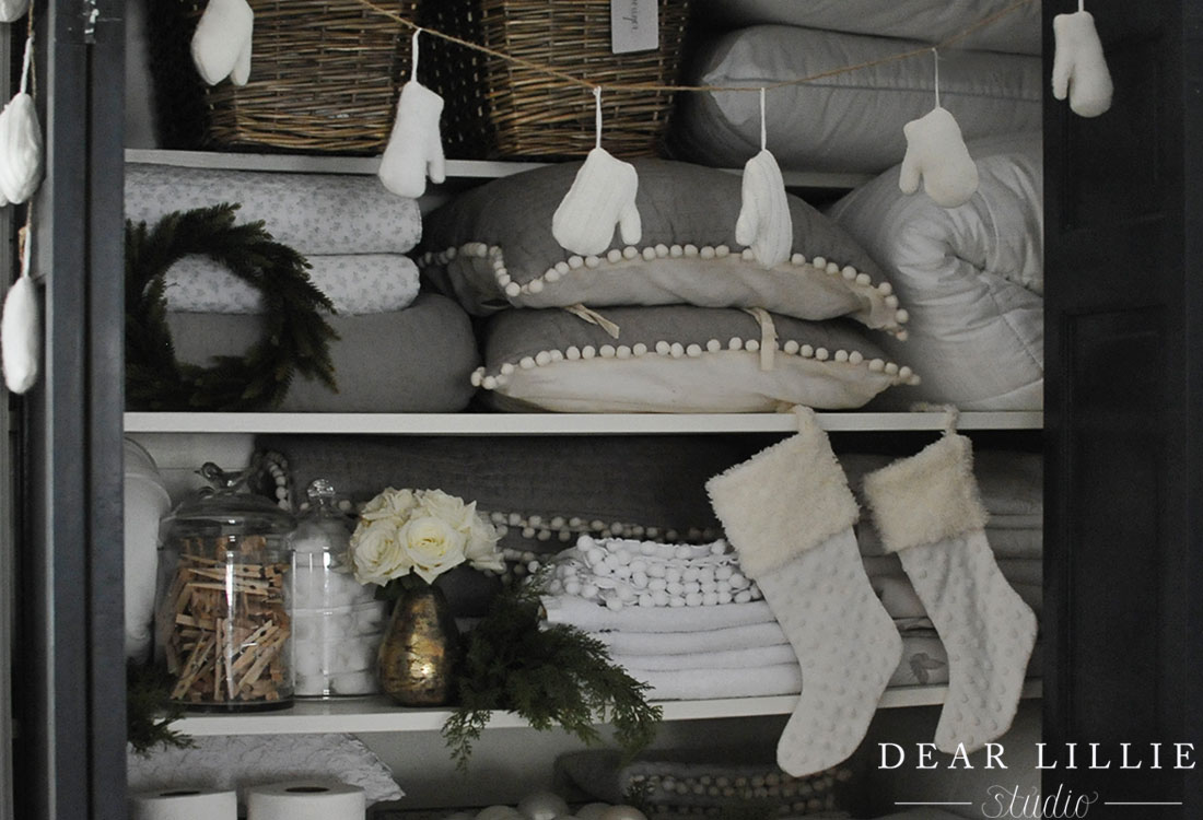 simple touches to our upstairs christmas closet dear. Black Bedroom Furniture Sets. Home Design Ideas