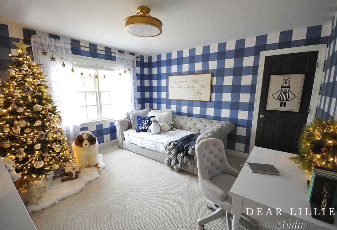 christmas in lola 39 s room dear lillie studio. Black Bedroom Furniture Sets. Home Design Ideas