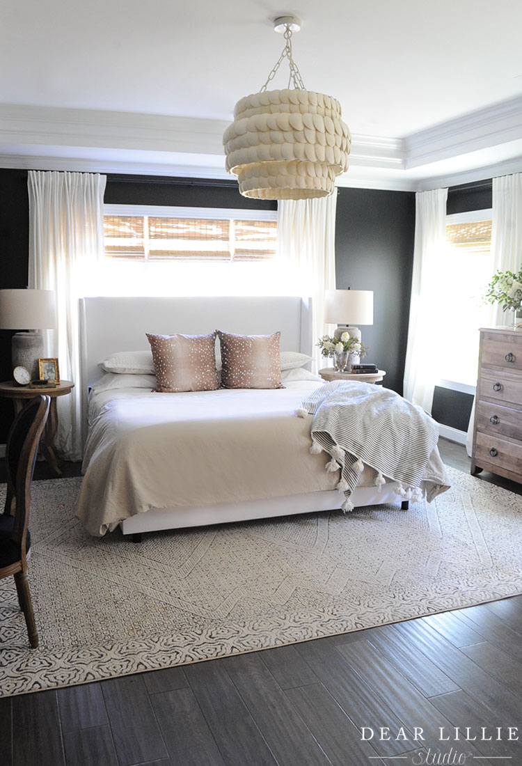 Adding a Light Fixture to Our Master Bedroom - Dear Lillie Studio