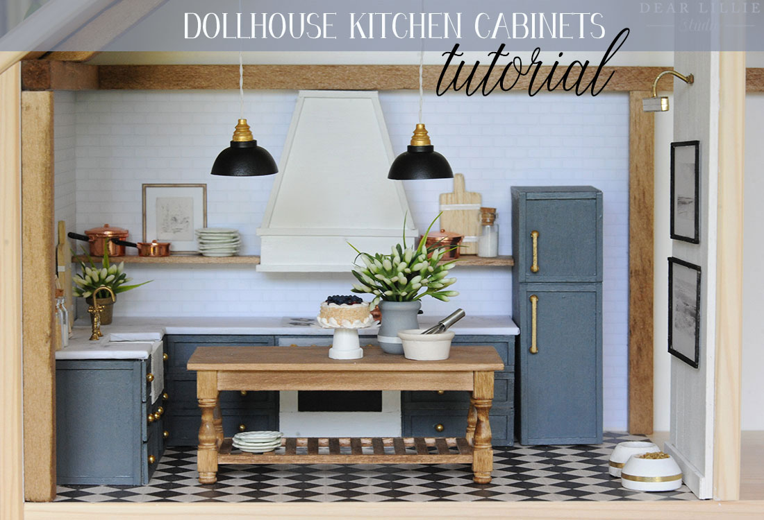 Diy Dollhouse Kitchen How We Made Our Cabinets For Our Ikea Dollhouse Dear Lillie Studio