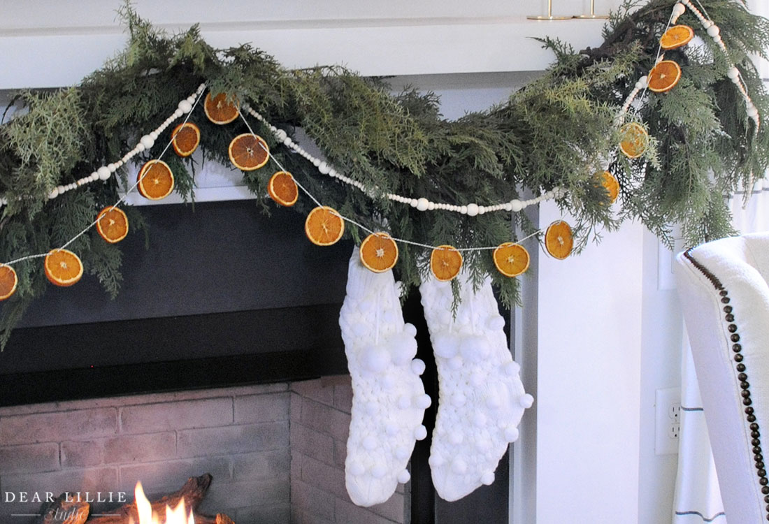 Diy Dried Orange Slice Garland Dear Lillie Studio